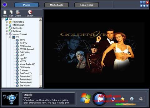لقطة شاشة Online TV Live لنظام التشغيل Windows 7