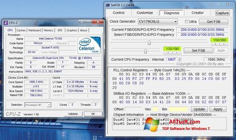 لقطة شاشة SetFSB لنظام التشغيل Windows 7