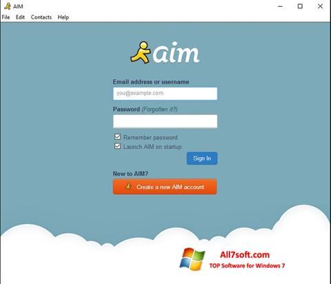 لقطة شاشة AOL Instant Messenger لنظام التشغيل Windows 7