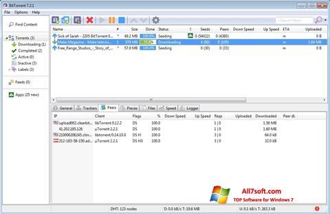 لقطة شاشة BitTorrent لنظام التشغيل Windows 7