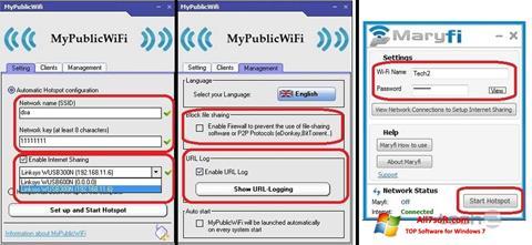 لقطة شاشة MaryFi لنظام التشغيل Windows 7