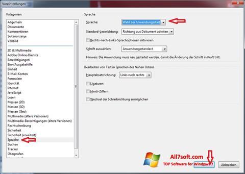 لقطة شاشة Adobe Reader لنظام التشغيل Windows 7