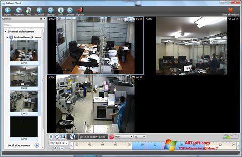 لقطة شاشة Ivideon Server لنظام التشغيل Windows 7
