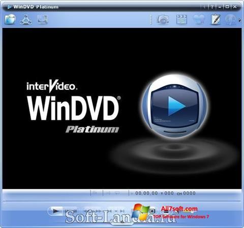لقطة شاشة WinDVD لنظام التشغيل Windows 7