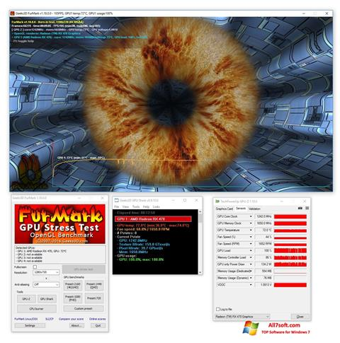 لقطة شاشة FurMark لنظام التشغيل Windows 7