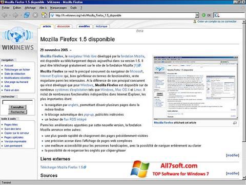 لقطة شاشة Mozilla Firefox لنظام التشغيل Windows 7