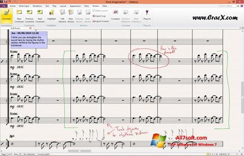 لقطة شاشة Sibelius لنظام التشغيل Windows 7