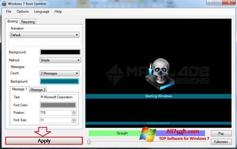 لقطة شاشة Windows 7 Boot Updater لنظام التشغيل Windows 7