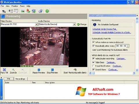 لقطة شاشة WebCam Monitor لنظام التشغيل Windows 7