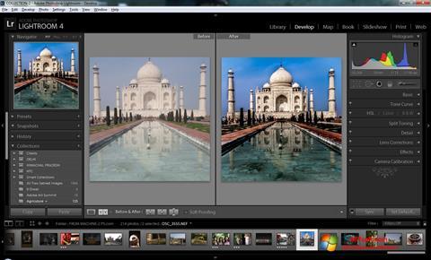 لقطة شاشة Adobe Photoshop Lightroom لنظام التشغيل Windows 7