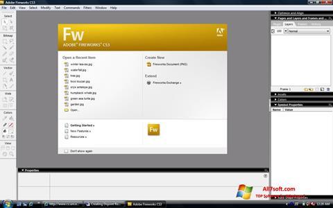 لقطة شاشة Adobe Fireworks لنظام التشغيل Windows 7