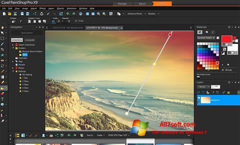 لقطة شاشة PaintShop Pro لنظام التشغيل Windows 7