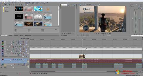 لقطة شاشة Sony Vegas Pro لنظام التشغيل Windows 7