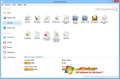 لقطة شاشة jv16 PowerTools لنظام التشغيل Windows 7
