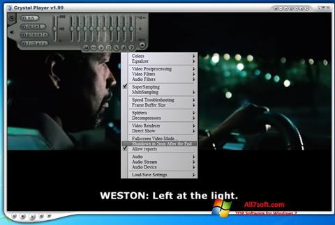 لقطة شاشة Crystal Player لنظام التشغيل Windows 7