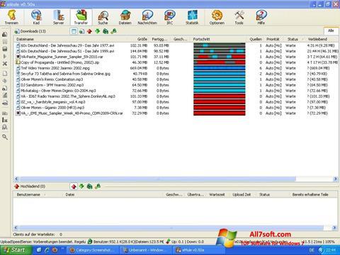 لقطة شاشة eMule لنظام التشغيل Windows 7