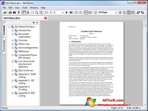 لقطة شاشة WinDjView لنظام التشغيل Windows 7