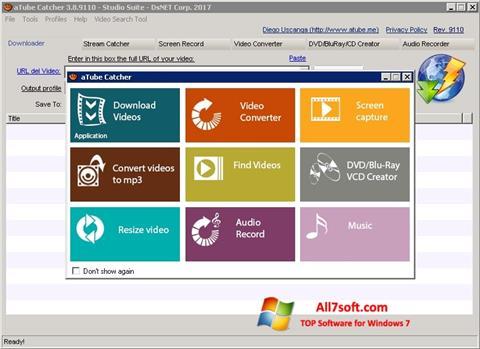 لقطة شاشة aTube Catcher لنظام التشغيل Windows 7