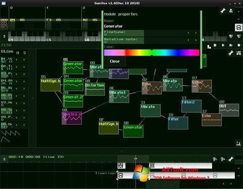 لقطة شاشة SunVox لنظام التشغيل Windows 7