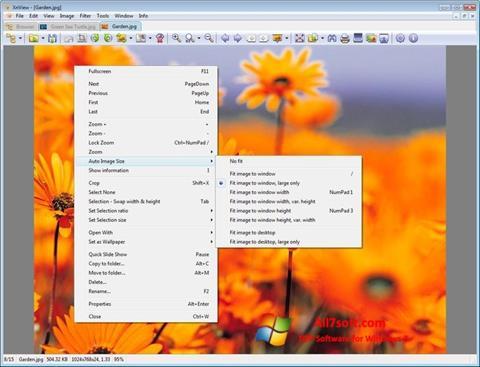 لقطة شاشة XnView لنظام التشغيل Windows 7