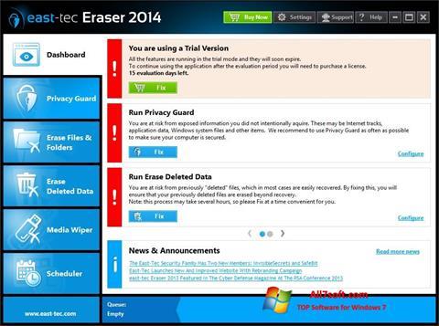 لقطة شاشة East Tec Eraser لنظام التشغيل Windows 7