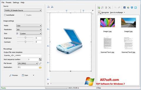 لقطة شاشة WinScan2PDF لنظام التشغيل Windows 7