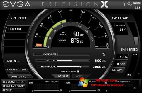 لقطة شاشة EVGA Precision X لنظام التشغيل Windows 7