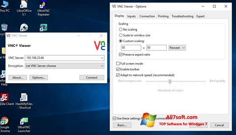 لقطة شاشة VNC لنظام التشغيل Windows 7