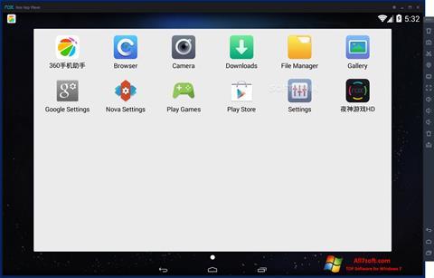 لقطة شاشة Nox App Player لنظام التشغيل Windows 7