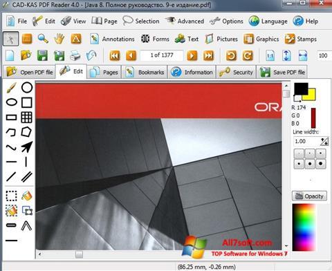 لقطة شاشة PDF Reader لنظام التشغيل Windows 7