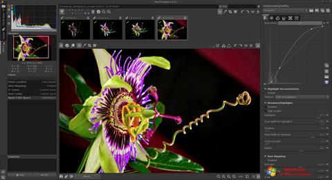 لقطة شاشة RawTherapee لنظام التشغيل Windows 7