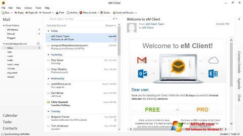 لقطة شاشة eM Client لنظام التشغيل Windows 7