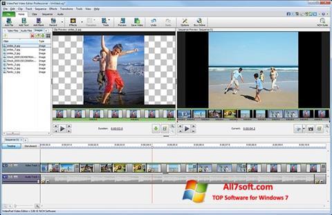 لقطة شاشة VideoPad Video Editor لنظام التشغيل Windows 7