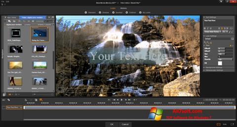 لقطة شاشة Pinnacle Studio لنظام التشغيل Windows 7