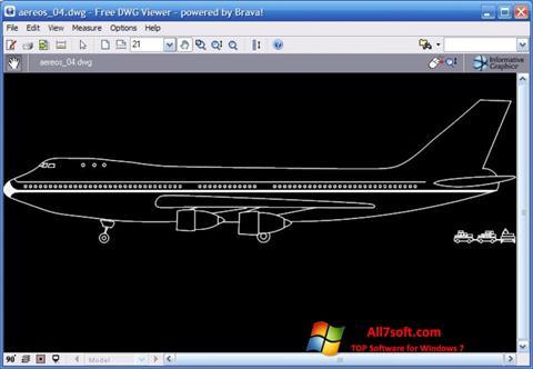 لقطة شاشة DWG Viewer لنظام التشغيل Windows 7