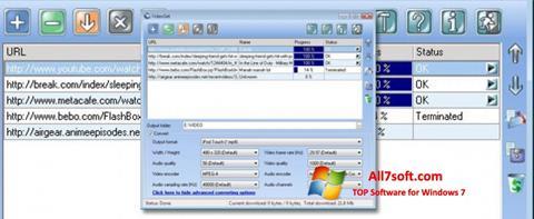لقطة شاشة VideoGet لنظام التشغيل Windows 7