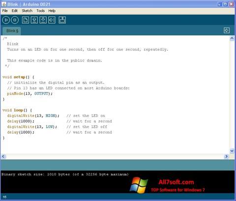 لقطة شاشة Arduino لنظام التشغيل Windows 7