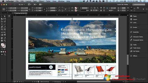 لقطة شاشة Adobe InDesign لنظام التشغيل Windows 7