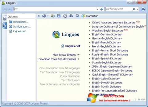 لقطة شاشة Lingoes لنظام التشغيل Windows 7