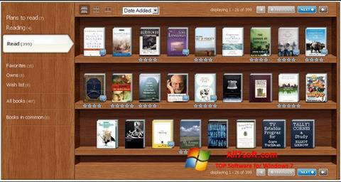 لقطة شاشة Bookshelf لنظام التشغيل Windows 7