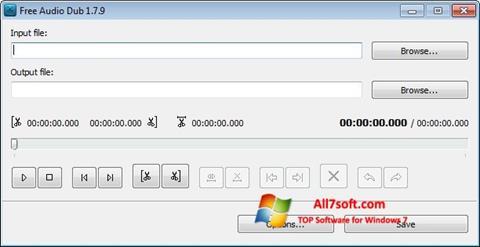 لقطة شاشة Free Audio Dub لنظام التشغيل Windows 7