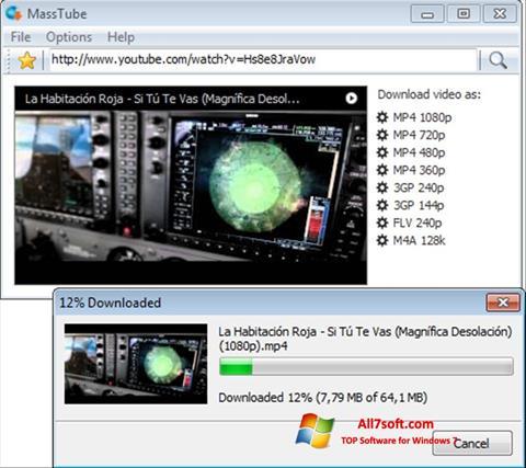 لقطة شاشة MassTube لنظام التشغيل Windows 7