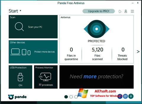 لقطة شاشة Panda لنظام التشغيل Windows 7