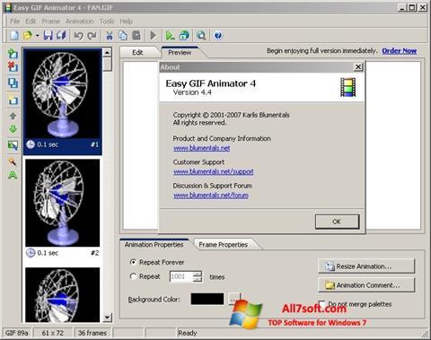 لقطة شاشة Easy GIF Animator لنظام التشغيل Windows 7