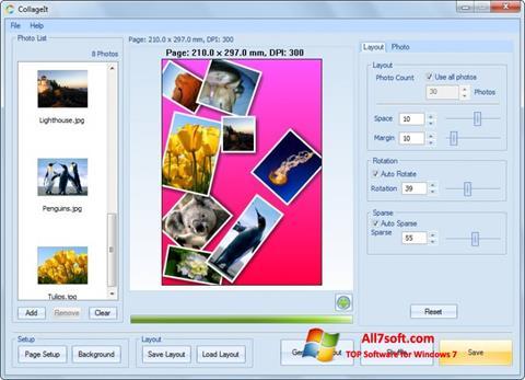 لقطة شاشة CollageIt لنظام التشغيل Windows 7