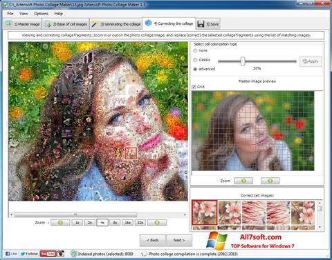 لقطة شاشة Photo Collage Maker لنظام التشغيل Windows 7