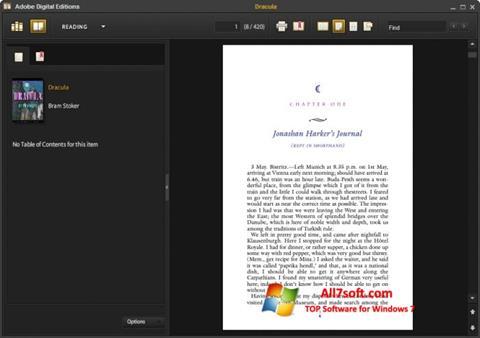 لقطة شاشة Adobe Digital Editions لنظام التشغيل Windows 7