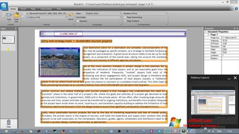 لقطة شاشة Readiris Pro لنظام التشغيل Windows 7