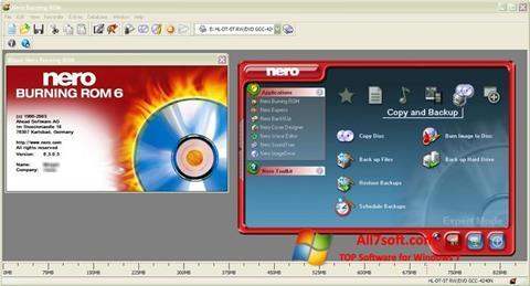لقطة شاشة Nero Burning ROM لنظام التشغيل Windows 7