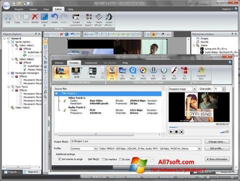 لقطة شاشة Free Video Editor لنظام التشغيل Windows 7